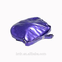 Hot Selling Factory Cheap Price Bulk Wholesale Shiny Purple Zebra Pattern Durable Ladies Handbag