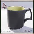 mate taza de cerámica de color negro
