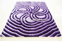 purple modern design 100% polyester 5D shaggy carpet,floor mats
