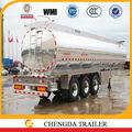 Adr dot estándar del ce certificado a 30000l 60000l aluminio tanques de combustible semi- remolque de camión