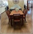 clássico de mogno madeira maciça mesa de jantar conjunto