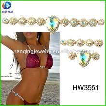 sexy underwear chain with diamond for lady bikini decoration