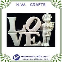 Resin love angel figurines miniature
