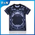 Venta popular sublimación de gran tamaño floral impreso camiseta fabricantes