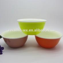 High quality Eco-friendly bright color ceramic salad bowl,ceramic Pet bowl,wholesale white ceramic salad bowl