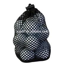 Nylon mesh drawstring bag for 12 golf balls