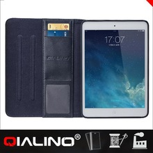 QIALINO Hot Quality Leather Flip Loud Speaker Case For Ipad
