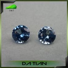 round cut blue zircon stone