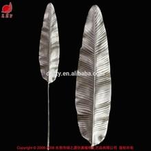 Real toque artificial folhas artificiais folha decorativa artificial folha de bananeira