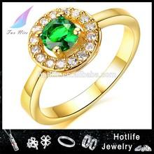 alibaba china New design Stock good quality diamond 2 gram gold ring