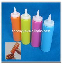 10.5 OZ colorful ketchup bottle plastic sauce dispencer bottle