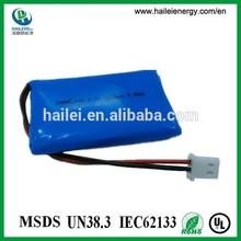mini size 853450 li-polymer battery 3.7v with 1500mah