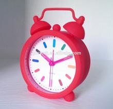 Cheap Cartoon Mini Candy Colors Silicone Alarm Clock for sale