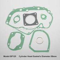 GP125 motorcycle cylinder gasket set,gasket valve cover