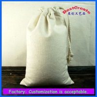 2015 environmental recyclable drawstring cotton rice bags