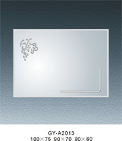 Silver type of simple mirror model MR-A2013