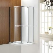 Slim profile quadrant double pivot shower screen CVC48