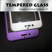 Titanium Alloy tempered glass screen protector for apple iphone 6 arc edge full body color tempered glass