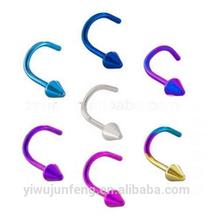 Various colors Titanium nose screw Rings Wholesale