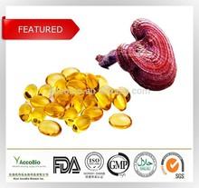 High quality Reishi(ganoderma lucidum) spore oil softgels, Reishi mushroom spore oil