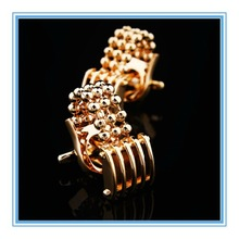 High Quality Stainless Steel Jewelry Men Shirt Gold Beads Unique Design Cufflinks in Alibaba