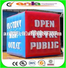 Inflatable helium balloon advertising
