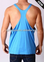 100% cotton custom wholesale racer back mens tank top