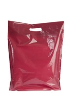 OEM Printed Plastic Bag Cheap Custom Made Die Cut Plastic Carrier Bags