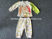 winter kids set clothing fleece jogging suits wholesale sweet suits