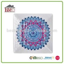 Delicate printing beautiful popular decorative sunflower plate