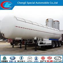 China make lpg gas tanker stainless steel pressure container tanker trailer 3 axle lpg storage tank trailer iso tank container