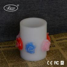 Wholesale Pillar Wax LED home decorative Candles