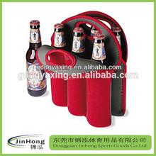 neoprene beer bottle bag/six pack insulated neoprene beer bottle holder