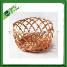 Round woven plastic rattan food basket,bread basket,storage basket