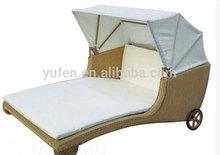 aluminum frame wicker beach chair sun shade