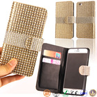 4.7 inch book style bling prestigio leather mobile phone case for iPhone 6