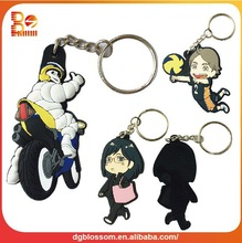 custom rubber keyring for promotion gifts
