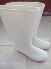 cheap PVC white rain boots for food industrial