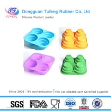 Four holes new design special silicone cake mould with LFGB/FDA/SGS standard
