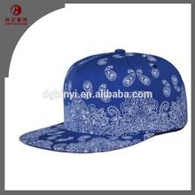 Mens Paisley Printed Snapback baseball Caps