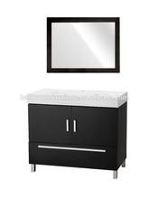 Espresso Bathroom vanity Modern & stylish Metal legs bathroom cabinet