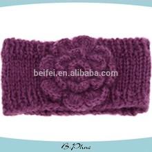 Knitted flower crochet fashion hairbands headbands for girls