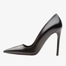 2015 Luxury fashion high heels black leather women prom/ dress shoes