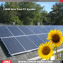 Roof mounting High efficiency 12kw solar renewable energy, commerical and residential solar systems