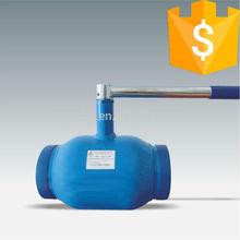 cf8m handle standard diameter fully welded ball valve