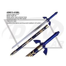 "41"" overall blue painting plastic handle cosplay zelda sword (4SM13-410BL)"