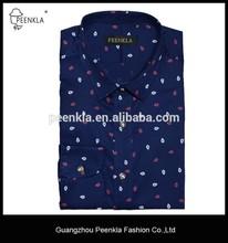 men fashion slim fit long sleeve print causal shirts