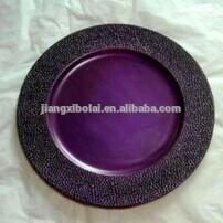 Plastic nice decorative round plate