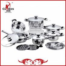 21Pcs Stainless Steel Spot Cookware Set
