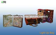 2015 Led Light up Paper Promotion Paper Bag